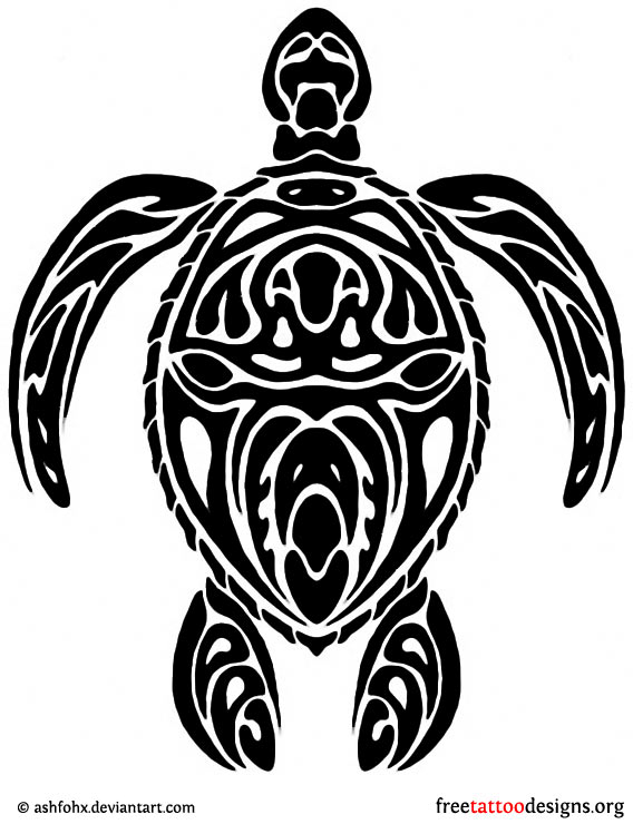 tribal turtle tattoo design - Cook Island Designs