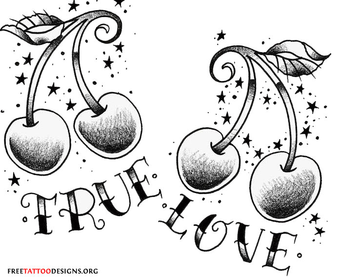 True Love Symbols Tattoos True Love Cherry Tattoo