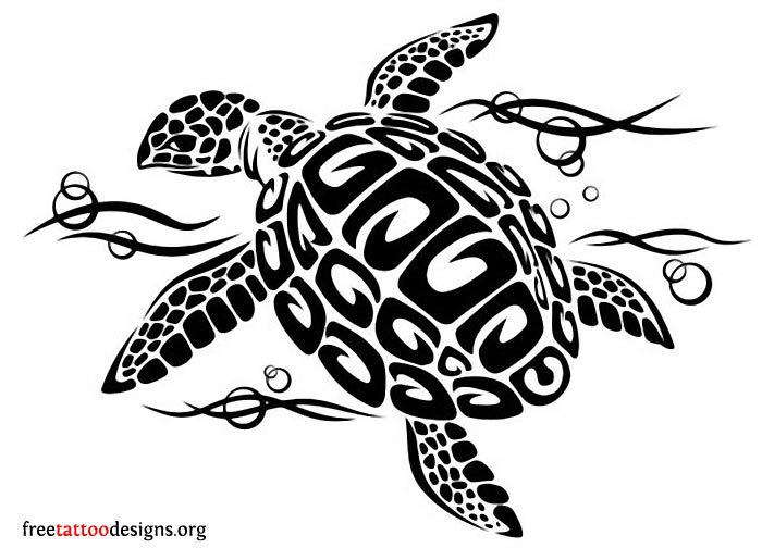 Hawaiian turtle designs color - photo#16