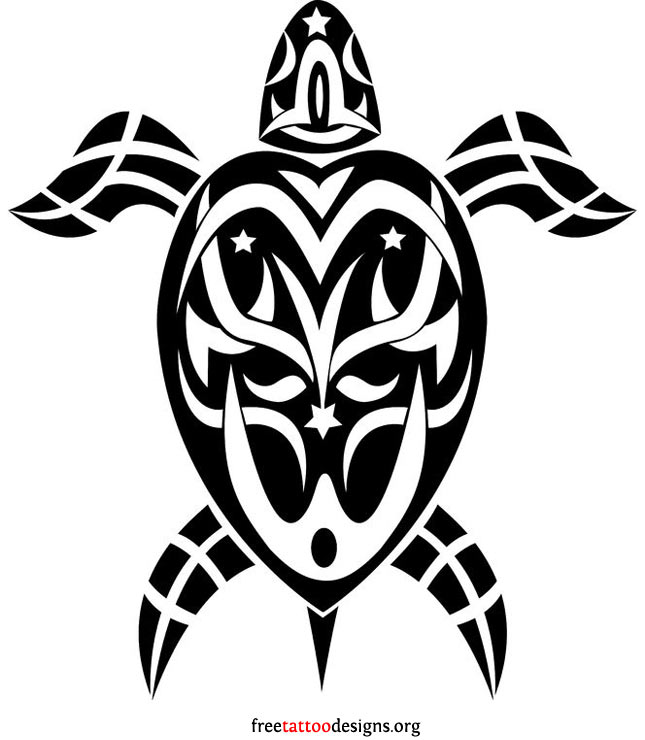 Hawaiian turtle designs color - photo#26