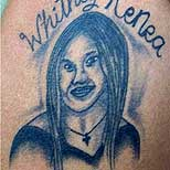 Ugly portrait tattoo of a girl