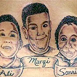 Ugly family portrait tattoo
