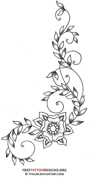 Blue Daffodil Tattoo Vine Flower Tattoojpg