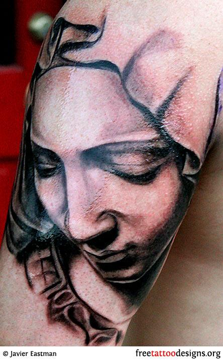 praying mary tattoo designs