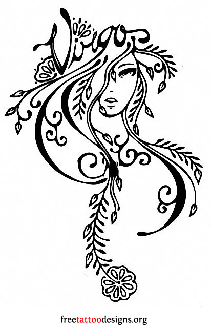 Virgo tattoo design