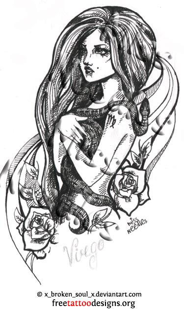f1a67b2f9 Virgo woman tattoo design · Virgo tattoo design ...
