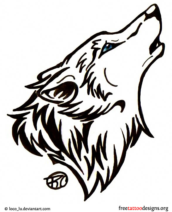 45deb0b22e7d9 ... Wolf head tattoo design