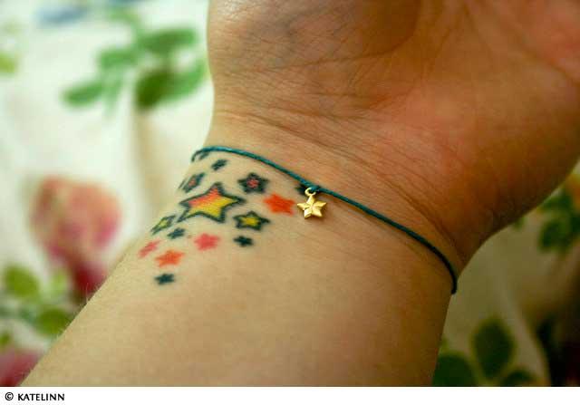 ollobilto small star tattoos wrist. Black Bedroom Furniture Sets. Home Design Ideas