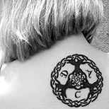 Yggdrasil tattoo on a woman's back