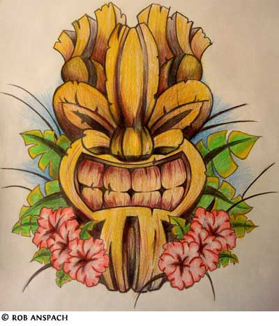 Polynesian tattoos for Polynesian tiki tattoo