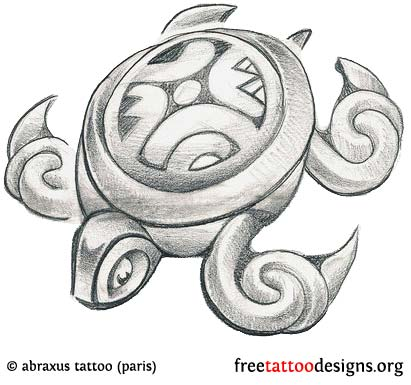 turtle tattoo design - Cook Island Designs
