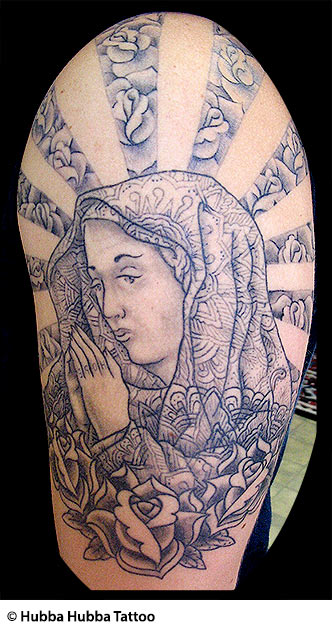 Christian Tattoos | Jesus, Rosary, Virgin Mary, Praying Hands, Devil ...